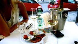 Vino bianco and kissed good bye